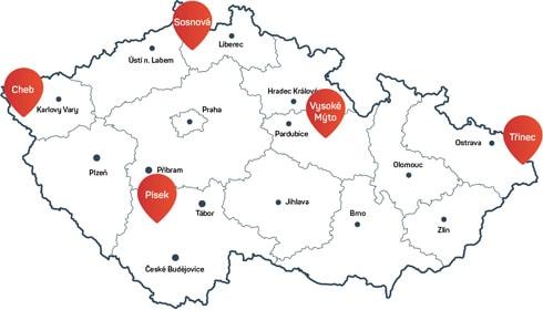 Mapa okruhů